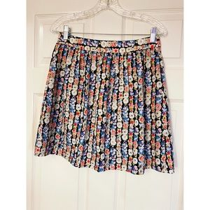 J. Crew Mercantile Colorful Floral A-line Skirt